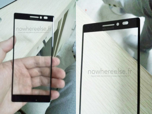 Purported Front Panel for Microsoft-Branded Smartphone Shown