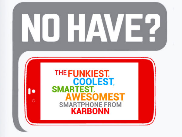 Karbonn To Launch New Smartphone on September 15