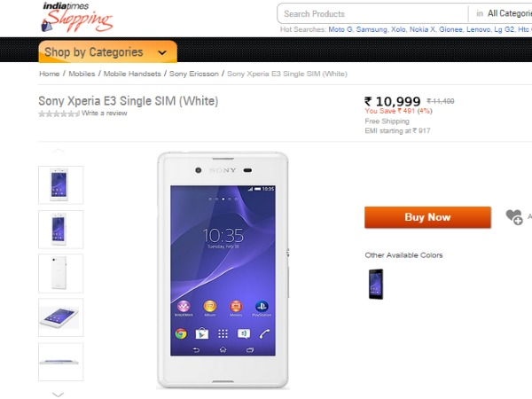 Shopping.indiatimes - Sony Xperia E3 Single SIM