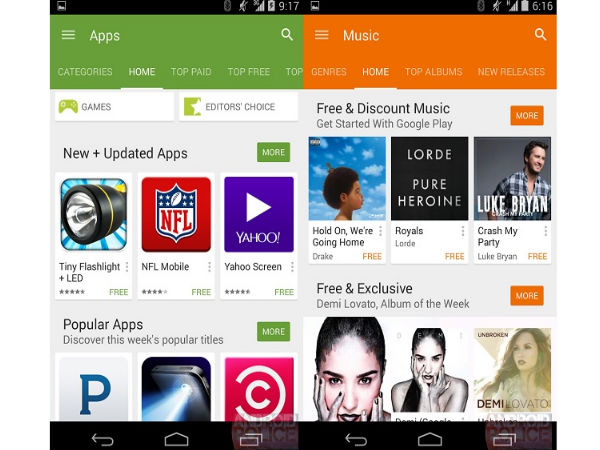 Google Play Store 5.0 Screenshots Leak Hints At New Design