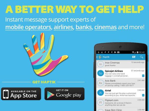 Haptik Messenger App Raises $1M to Build Mobile Consumer Help Platform