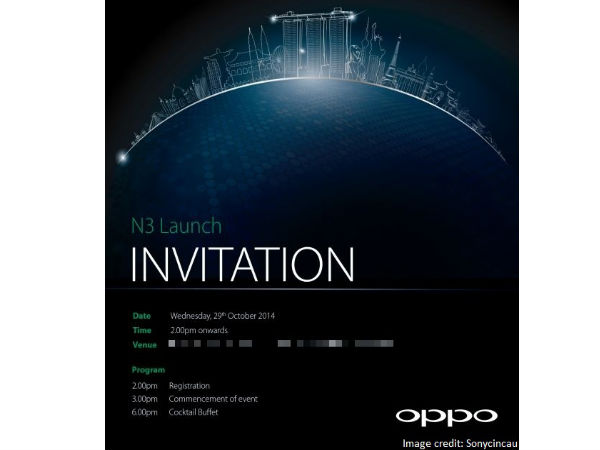 Oppo N3 Tipped to Launch on October 29 in Singapore?