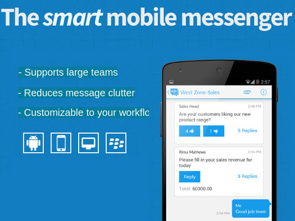 Teamchat Messaging App For Enterprise Now Available for All OS