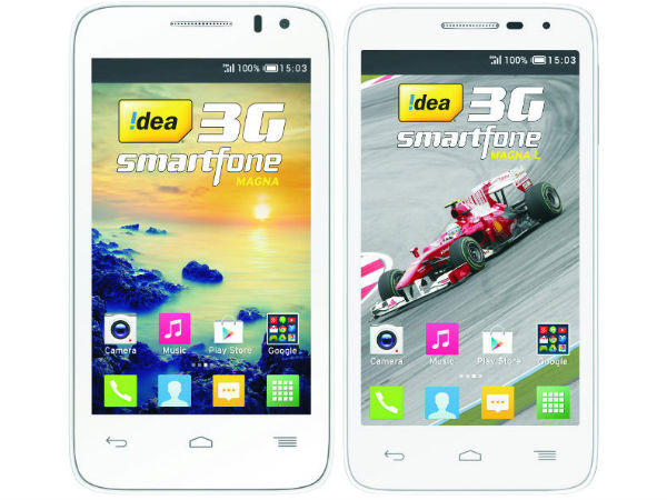 Idea Magna, Magna L 3G Smartphones Launched for Rs 4,999 and Rs 6,250