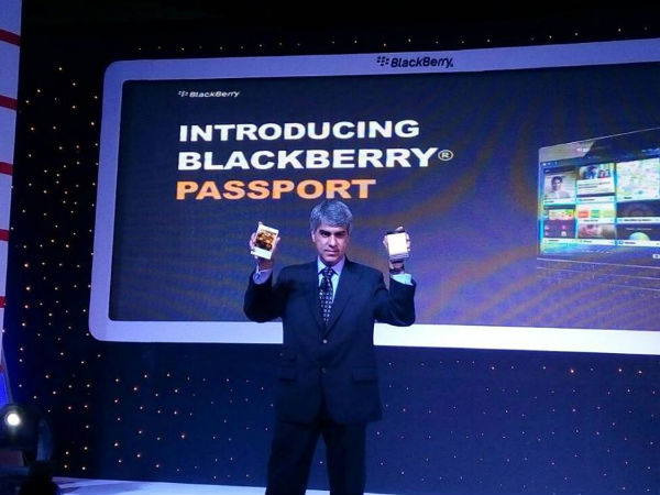 BlackBerry Passport Launched in India at Rs 49,990