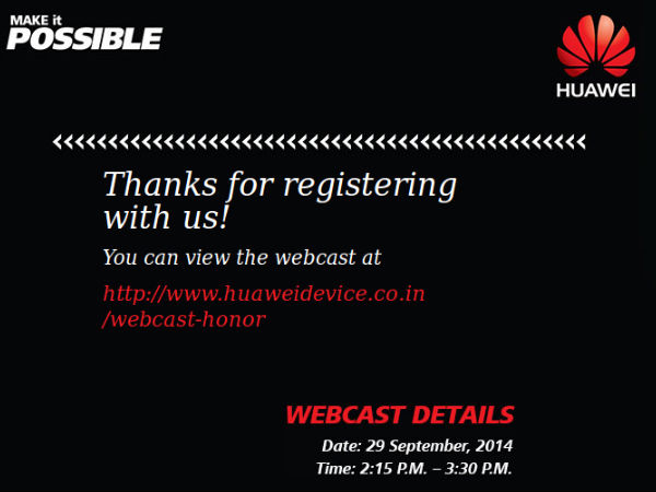 Huawei Honor 6 Launch Event: Watch Live Streaming Here [Video]