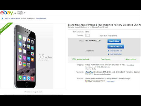 Apple iPhone 6 Plus Already Up for Sale? 128GB Variant Spotted on eBay