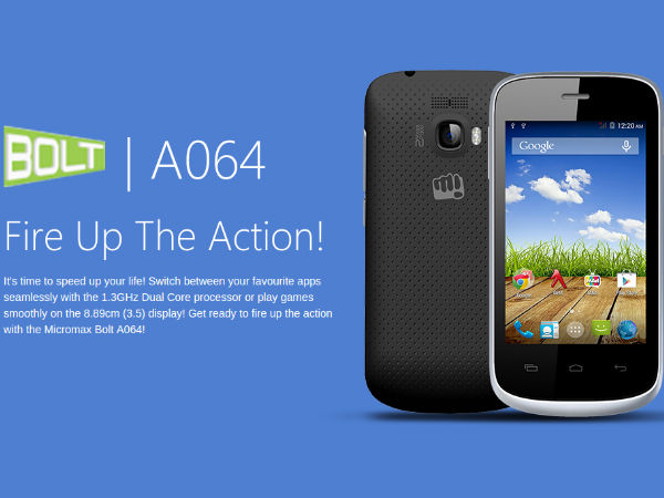Micromax Bolt A064 With Android 4.4.2 KitKat Gets Listed Online