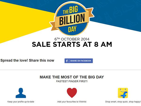 Big Billion Day Offer Kicks Off On Flipkart: Find Out The Best Deals