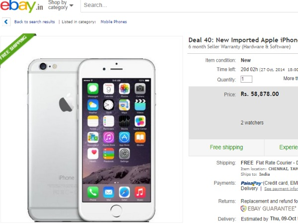 New Imported Apple iPhone 6 16GB Silver Color