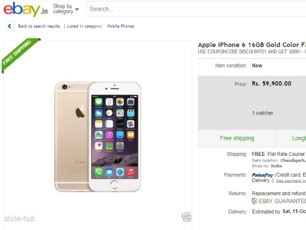 Apple iPhone 6 16GB Gold Color Factory Unlocked