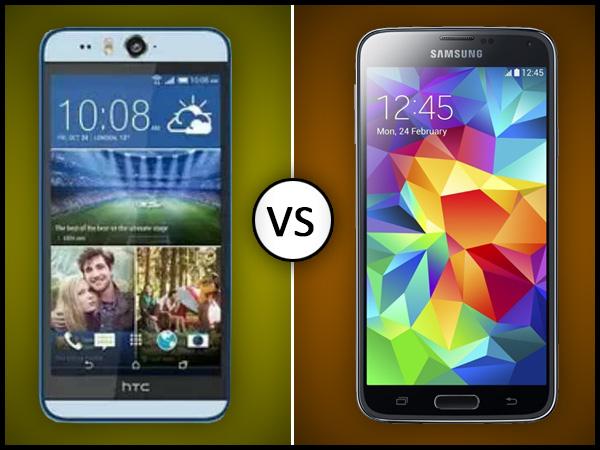 HTC Desire Eye Vs Samsung Galaxy S5-LTE: Let the Battle Begin