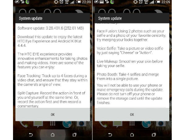 HTC One M8 In Europe Starts Receiving Eye Update