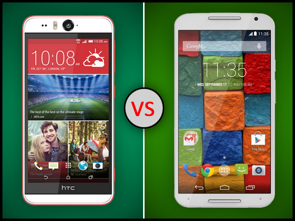 HTC Desire Eye Vs Motorola Moto X (Gen 2): Full Specs Comparison