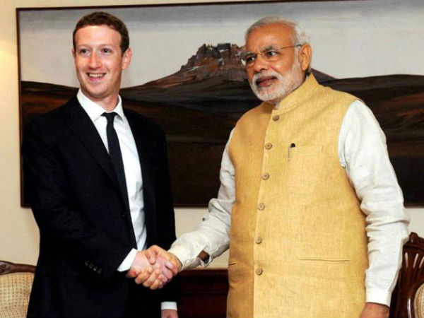 Facebook Founder Mark Zuckerberg Meets Indian Prime Minister Modi