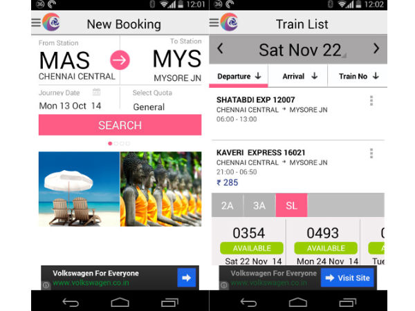 IRCTC Connect App Finally Launched For Android Devices