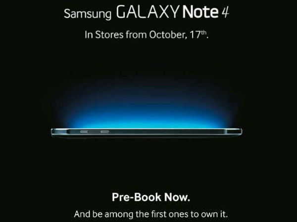 Samsung Galaxy Note 4 India Retail Availability Tipped For Oct 17