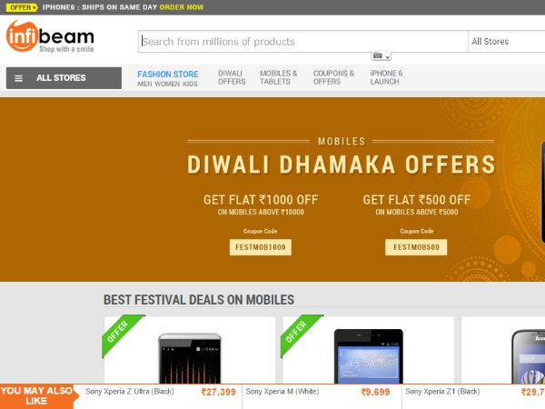 Infibeam: Discounts, sales and offers to look for this Diwali 2014