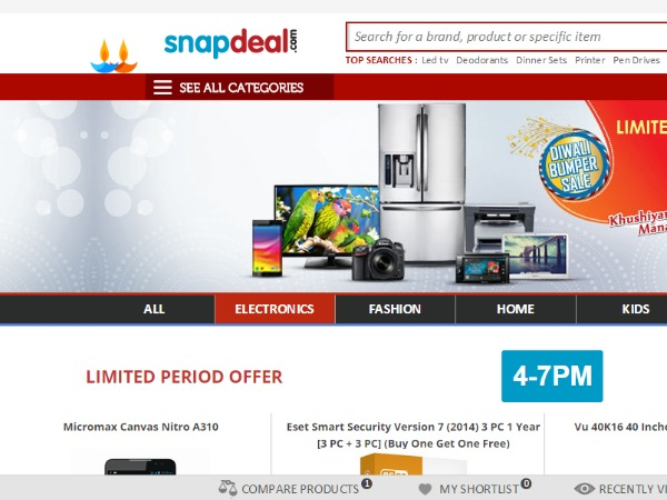 Snapdeal: Discounts, sales and offers to look for this Diwali 2014