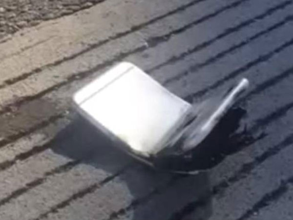 Apple iPhone 6 Gets Bent and Catches Fire [VIDEO]