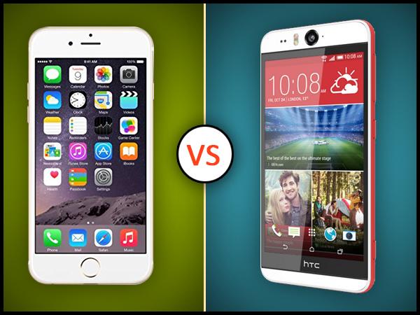 HTC Desire Eye Vs Apple iPhone 6: Specs Comparison