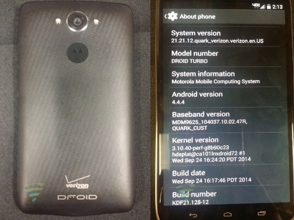 Motorola Droid Turbo Live Images Appear Online Yet Again