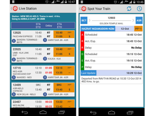 NTES App For National Train Enquiry Now Available for Android Devices