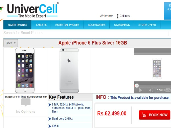 UniverCell: Apple iPhone 6 Plus Silver 16GB