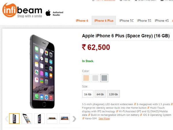 Infibeam: Apple iPhone 6 (Gold) (16 GB)