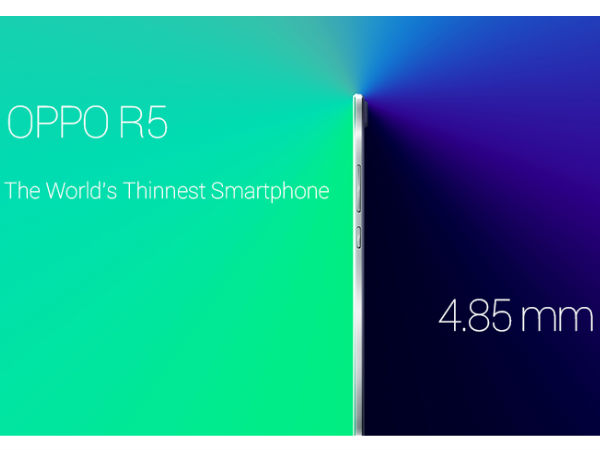 Oppo R5 Goes Official: Dubbed 'World's Slimmest Smartphone'