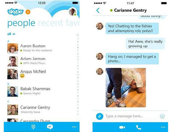 Skype 5.7 Update for iPhone Brings Faster Chat Load Time and More