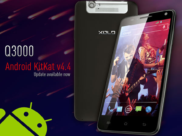 Xolo Q3000 Starts Receiving Android 4.4.2 Update in India