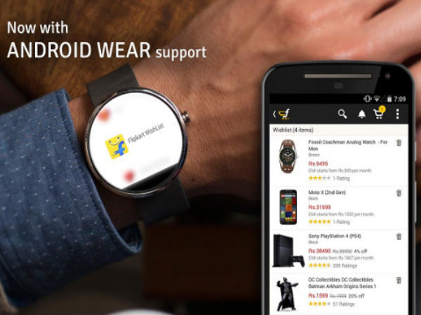 Flipkart App for Android Wear Devices Launched