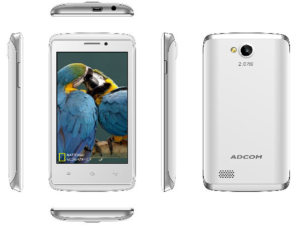 Adcom Launches A40 Smartphone With Android KitKat At Rs 2,999