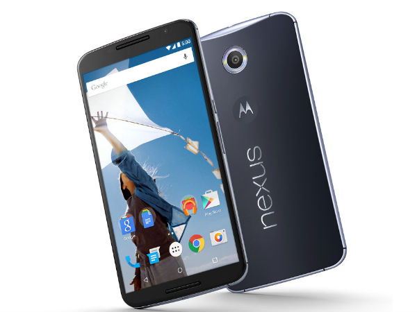 Google Nexus 6 32GB and 64GB Will Cost Rs 44000 and Rs 49000 in India