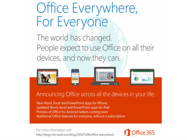 Microsoft Launches Free Office Apps For iPhone and iPad