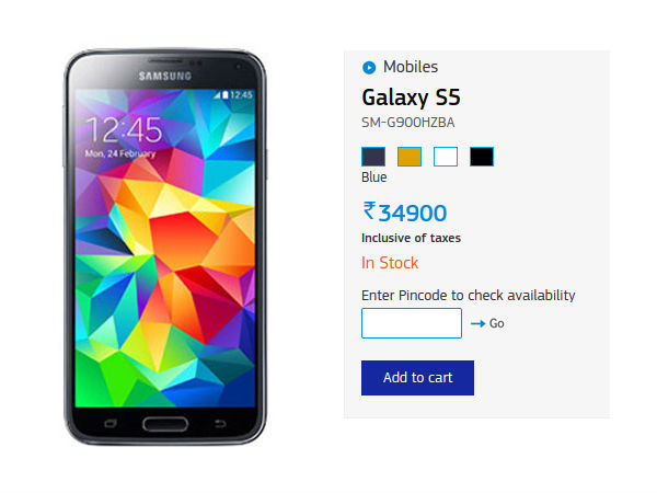 Samsung Slashes Prices Of Galaxy S5, S5 LTE, Tab 4 and More in India