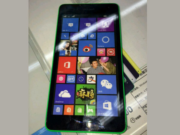 Alleged Lumia 535 Pays Online Visit With Microsoft Branding