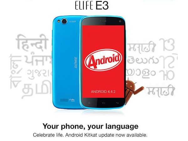 Gionee Elife E3 Now Receiving Android 4.4 Kitkat Update in India