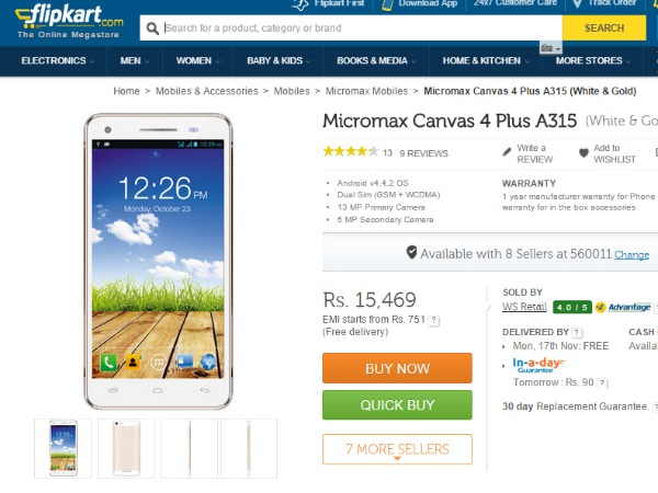 Buy At Price fo Rs 15,469