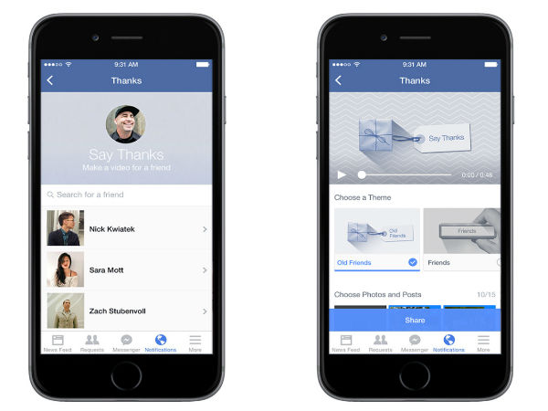 Facebook Introduces 'Say Thanks' Video Making Tool