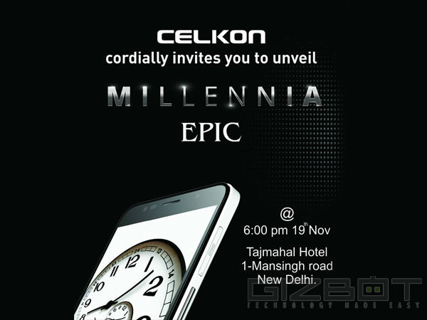 Celkon to Launch Flagship Millennia Epic with 5.5 inch Display