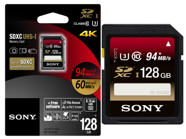 Sony 128GB UHS-I SDXC Card Launched in India for Rs 13,200