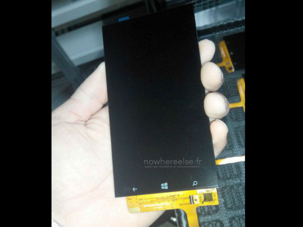 Front Panel of Upcoming Windows Smartphone Leaks Online