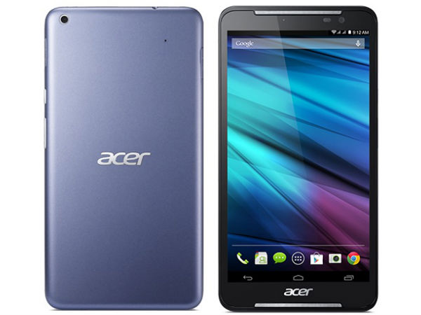 Acer Iconia Talk S Launched With 4G LTE and Dual SIM Support