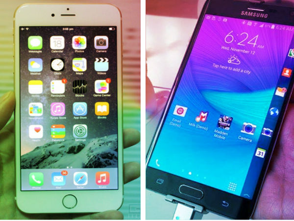 Apple iPhone 6 Plus Vs Samsung Galaxy Note Edge: Big Vs Curve; Who Wins the Game?
