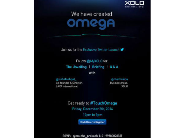 Xolo To Launch New 'Omega' Smartphone Series on Twitter