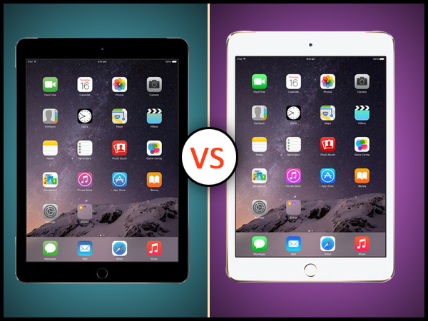 Apple iPad Air 2 Vs iPad mini 3: Specs Comparison
