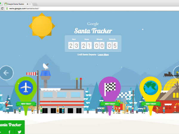 Google Introduces Santa Tracker to Mark Countdown Until Christmas