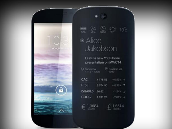 YotaPhone 2 with Dual Display Launched for 699 Euros